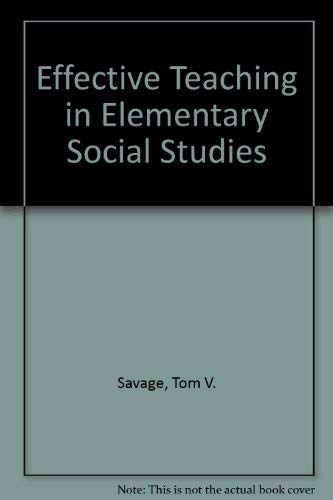 9780024064004: Effective Teaching in Elementary Social Studies