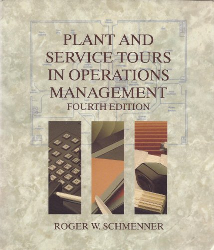9780024068316: Plant and Service Tours in Operations Management