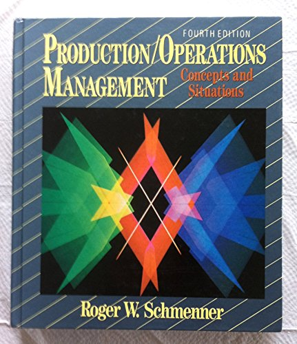 9780024069252: Production/Operations Management: Concepts and Situations