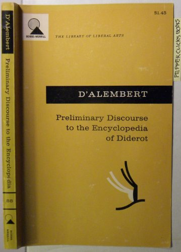 9780024074003: Preliminary Discourse to the Encyclopedia of Diderot
