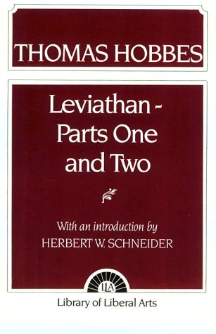 9780024077509: Hobbes: Leviathan 1 and 2 (Pt. 1 & 2)