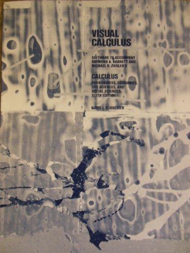 9780024080042: Visual Calculus Supplement Sfw
