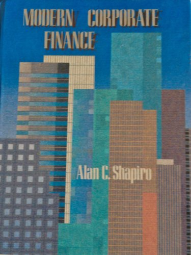 9780024095305: Modern Corporate Finance