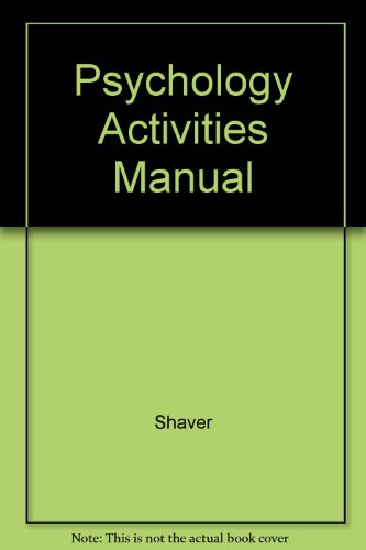 Psychology Activities Manual: Shaver