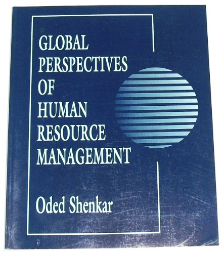 perspectives of human resource management Handbook of research in international human resource management edited by günter k stahl associate professor of organizational behaviour, insead.