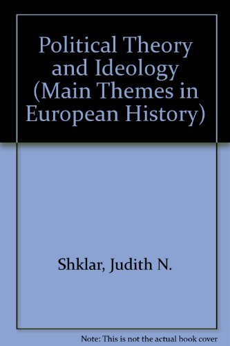 9780024101303: Political Theory and Ideology (Main Themes in European History)
