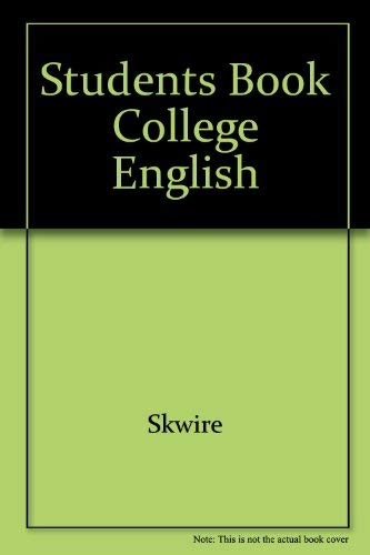 9780024115317: Students Book College English