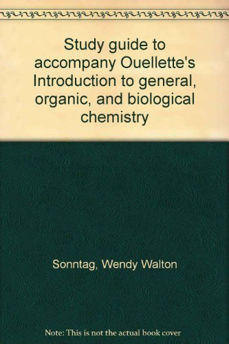 9780024137807: Study guide to accompany Ouellette's Introduction to general, organic, and biological chemistry