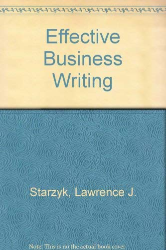 9780024158000: Effective Business Writing
