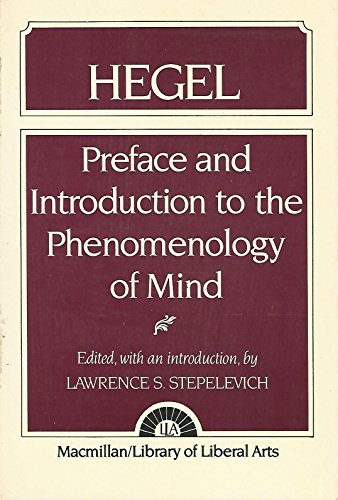 9780024171153: Preface and Introduction to the Phenomenology of Mind (Library of Liberal Arts)