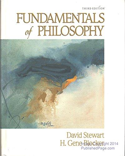 9780024173409: Fundamentals of Philosophy