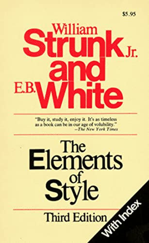 9780024182005: The Elements of Style (with Index)