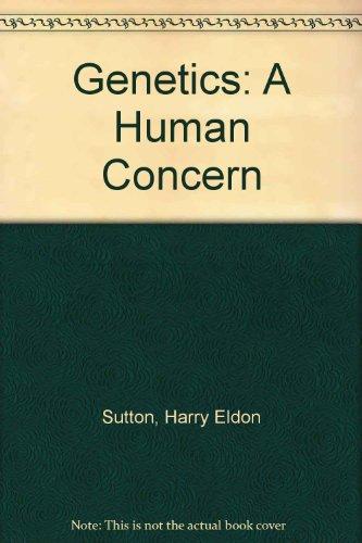 9780024183200: Genetics: A Human Concern