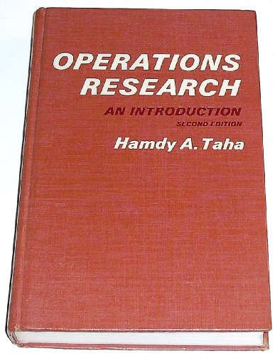 9780024188205: Operations Research: An Introduction
