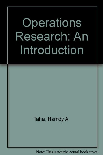 9780024189707: Operations Research: An Introduction