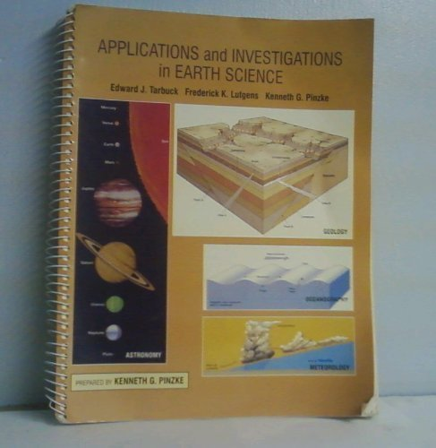 9780024190116: Applications and Investigations in Earth Science