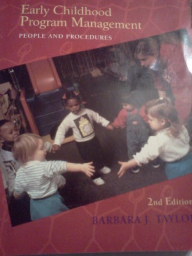 9780024197313: Early Childhood Program Management: People and Procedures