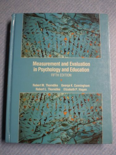 9780024207753: Measurement and Evaluation in Psychology and Education