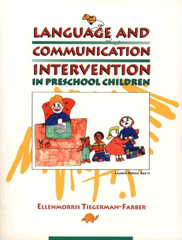 9780024208217: Language and Communication Intervention in Preschool Children