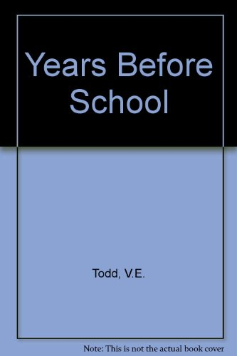 9780024208804: The Years Before School: Guiding Preschool Children