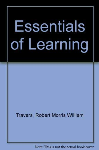 9780024213501: Essentials of Learning