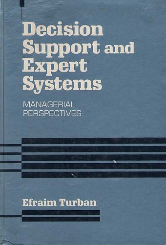 9780024216502: Decision Support and Expert Systems: Managerial Perspectives (Macmillan series in information systems)