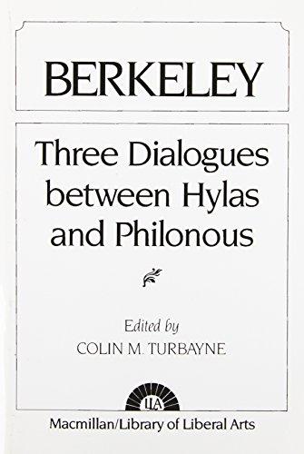 9780024216700: Berkeley: Three Dialogues Between Hylas and Philonous