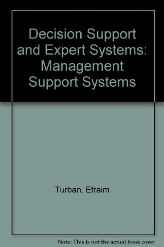 9780024217028: Decision Support and Expert Systems: Management Support Systems
