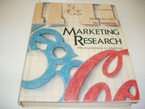 9780024218216: Marketing Research: Measurement and Method (The Macmillan series in marketing)