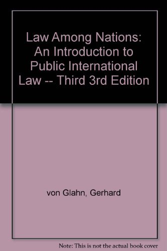 9780024231505: Law among nations: An introduction to public international law