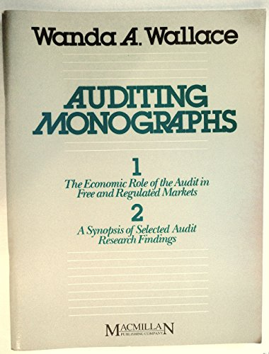 9780024239105: Auditing Monographs