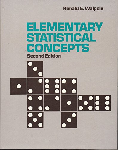 9780024240200: Elementary Statistical Concepts