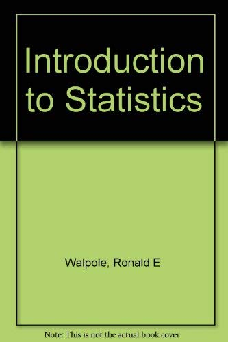9780024240606: Introduction to Statistics