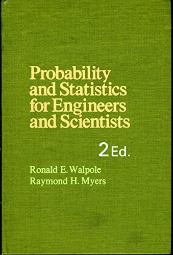 9780024241108: Probability and Statistics for Engineers and Scientists