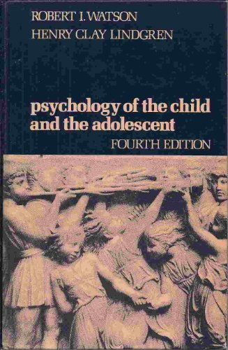 9780024246004: Psychology of the Child and the Adolescent