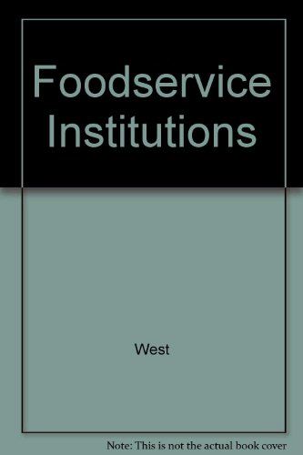 9780024259301: Foodservice Institutions