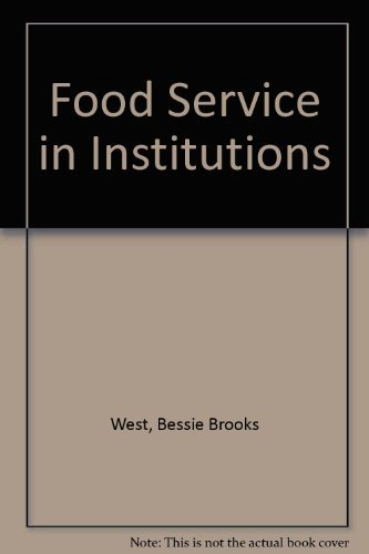 9780024259400: Food Service in Institutions