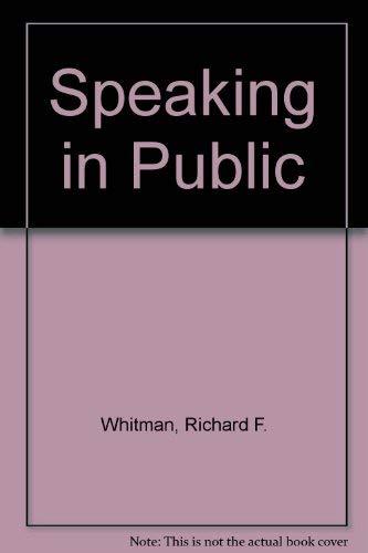 9780024273505: Speaking in Public
