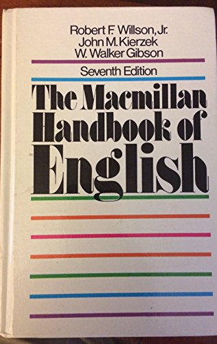 9780024281401: Macmillan Handbook of English
