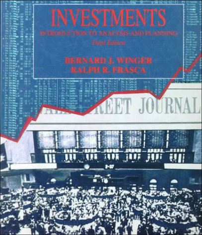 9780024286130: Investments: An Introduction to Analysis and Planning