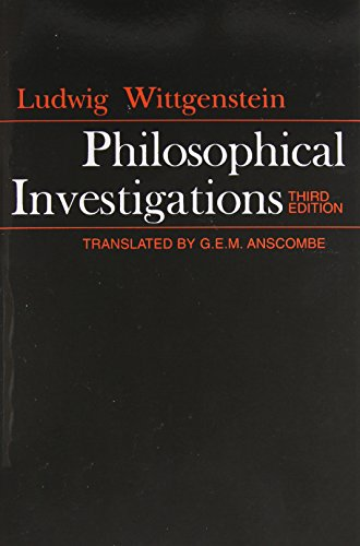 9780024288103: Philosophical Investigations: The English Text of the Third Edition