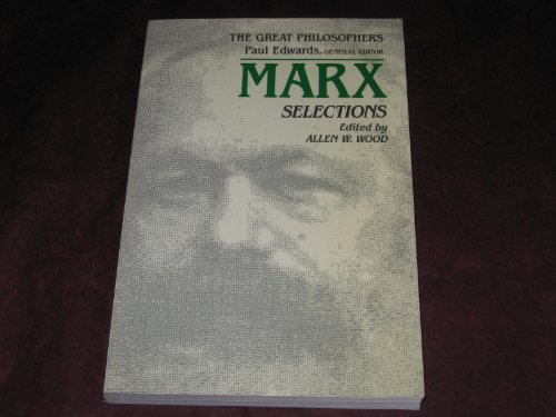 9780024295217: Marx Selections (The Great Philosophers Series)