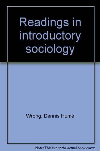 9780024307002: Readings in introductory sociology