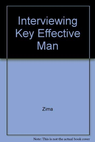 9780024316912: Interviewing: Key to Effective Management