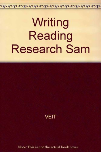9780024392350: Writing Reading Research Sam