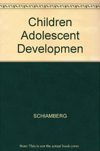 9780024398307: Children Adolescent Developmen