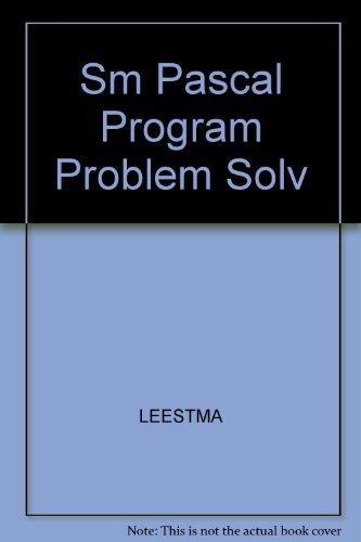 9780024399687: Sm Pascal Program Problem Solv