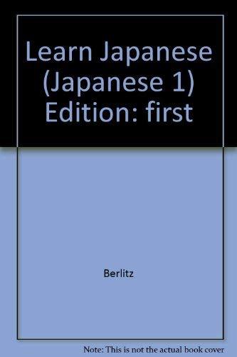 9780024431004: Japanese 1 (Berlitz): Learn Japanese (Japanese, 1)