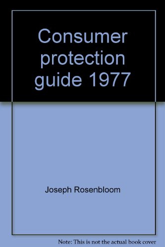 9780024680402: Consumer protection guide 1977