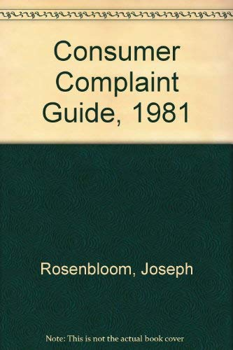 9780024695901: Consumer Complaint Guide, 1981